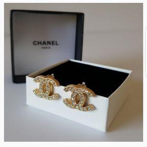 Chanel CC Earrings Authentic Vintage '01